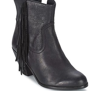 Sam Edelman Louie Black Leather Ankle Boot